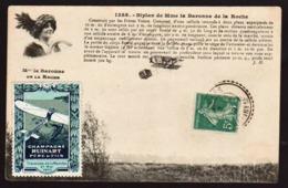FRANCE (Aviation, Erinnophilie) RARE Vignette D'Aviation Du Champagne Ruinart Relative à La Traversée............... - Erinnophilie