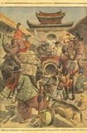 Dessin Satirique Du Petit Journal  Illustré 1909-1ère Automobile Dans Une Ville Coréenne-repro Cpm - Passenger Cars