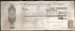 COMPAGNIE GENERALE ELECTRIQUE - 30/01/1909 - Lettres De Change