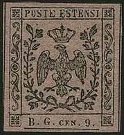 DUCATO DI MODENA  - Tipologia: *SG - Segnatasse Per Giornali - C.9 Lettere B.G. Piccole Violetto N.4SG - Sassone N.2 - P - Modena