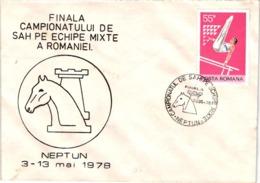 Chess Schach Echecs Ajedrez - Neptun. Romania 1978_Romanian Team Championship_Souvenir Cover_CKM 7823 - Schach