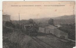 Hérault - PRADES Sur VERNAZOBRE - Gare De Pomméras Prades Passage D'un Train - En L'état ( Voir Manque Coin Bas Droit ) - Otros Municipios