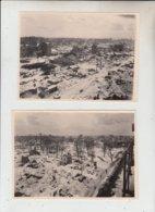 76  -  LE HAVRE -   2 Photos Du Havre Détruit -Guerre De 1940.. - Lugares