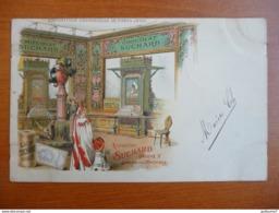 CPA - Chocolat Suchard - Exposition Universelle De Paris 1900 - Groupe X Galerie Des Machines - Cachet Fleurus - Werbepostkarten