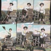 (1874) Zes Kaarten - Kareltje In De Bergen - Hoed Met Een Pluim - Postkaarten