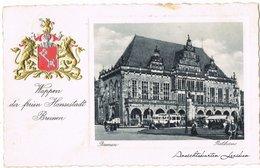 Ansichtskarte Bremen Präge-Heraldik AK - Partie Am Rathaus 1939  - Bremen