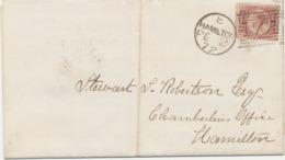 GB 1872 Queen Victoria 1/2 D Plate 9 Superb Cover W. Very Rare Usage In HAMILTON (LARKHALL) SCOTLAND GREAT GEM & RARITY - 1840-1901 (Victoria)