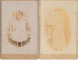 2 Photo Cabinet - Portraits Par A. Andrianarijaona (Madagascar) 1/3/1903 - Scan Recto/verso - Photos