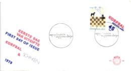 Chess Schach Echecs Ajedrez - Sas Van Gent. Netherlands 1978_Chess_18th International IBM Tournament_FDC_CKM 7826 - Schach