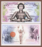 FRANCE 50 Francs 2019 Polymer UNC. Legends Of The World - JOAN OF ARC - Sonstige
