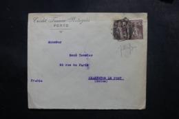 PORTUGAL - Enveloppe Commerciale De Porto Pour La France En 1922, Affranchissement Perforés - L 47670 - Covers & Documents