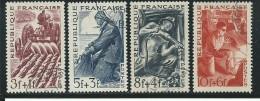 FRANCE: Obl., N°823 à 826, Série, TB - France