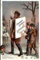 CHROMO  CHOCOLAT EXPRESS GRONDARD  PORTEUR DE TABLEAU D AFFICHAGE - Schokolade