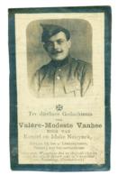 WO1 / WW1 - Doodsprentje Vanhee Valere Modest - Wingene / Rheinberg (D) - Gesneuvelde - Obituary Notices