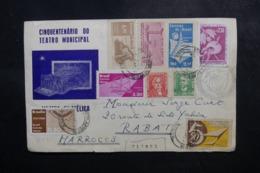 BRÉSIL - Enveloppe événementielle De Sao Paulo Pour Le Maroc En 1961, Affranchissement Plaisant - L 47678 - Cartas