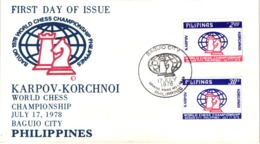 Chess Schach Echecs Ajedrez - Baguio_Philippines 1978_World Championship Match_Karpov Vs Korchnoi_FDC_CKM 7838 - Schach