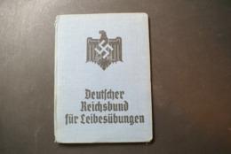 WW2 - DEUTCHER REICHSBUND FUR LEIBESUBUNGEN - Documents