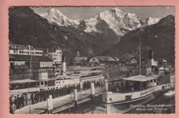OUDE POSTKAART  ZWITSERLAND - SCHWEIZ - SUISSE -    INTERLAKEN - DAMPFER - GR Graubünden