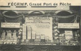 FECAMP - Grand Port De Pêche, Stand H.E Deneuve,carte Publicitaire. - Fécamp