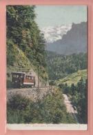 OUDE POSTKAART  ZWITSERLAND - SCHWEIZ - SUISSE -      ELEKTRISCHE BAHN BEI ENGELBERG - OW Obwalden