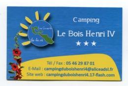 CdV °_ Tourisme-17-La Couarde-Camping Bois Henri IV- R/V - Visitenkarten