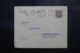 ITALIE - Enveloppe Commerciale De Milano Pour La France En 1923, Affranchissement Perforé - L 47682 - 1900-44 Victor Emmanuel III