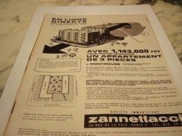 ANCIENNE PUBLICITE APPARTEMENT A  MONTROUGE 1959 - Autres