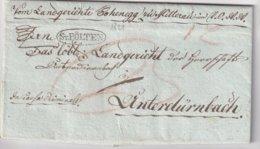 AUTRICHE 1821 LETTRE DE ST.PÖLTEN - ...-1850 Voorfilatelie