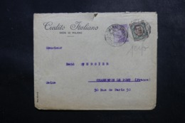 ITALIE - Enveloppe Commerciale De Milano Pour La France En 1924, Affranchissement Perforés - L 47685 - 1900-44 Victor Emmanuel III