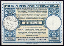 SUISSE SCHWEIZ Lo16n 50 C. InternationalReply Coupon Reponse Antwortschein IAS IRC O AVANCHES Ses Ruines Romaines - Archéologie