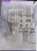 LYON SAINT JEAN, 1885 : 2 Plaques De Verre, Construction Maison + Travaux De Soutènement . Négatif - Glasdias