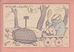 OLD POSTCARD - TURTLE AS HUMAN BEING - TORTUE - SCHILDKROETE - ARTIST SIGNED - Cartoline