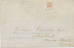 NEW SOUTH WALES WORLDS FIRST POSTAL STATIONERY VFU 1845 WORLDWIDE NO MORE As 40-45 ITEMS KNOWN!!! GREAT GEM & EXHIBITION - 1850-1906 New South Wales