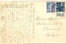 LE 0320. N° 237-257a (PROVINS) Obl. CONVOYEUR BRIANCON..25 JUIL 29 S/CP De BRIANCON V. Avenne (Belg.) - France
