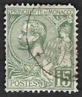 MONACO  1920-21 -  Y&T  44 - Prince Albert 1° - Oblitéré - Monaco