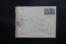 PORTUGAL - Enveloppe Pour La France En 1942 Avec Contrôle Postal, Affranchissement Plaisant - L 47694 - Covers & Documents