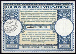 SUISSE / SCHWEIZLo16n 60 / 50 C. Int.Reply Coupon Reponse IAS IRC Antwortschein O ZÜRICH GARTENBAU AUSSTELLUNG 15.IX - Landwirtschaft