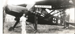 PHOTO AVION MORANE SAULNIER MS 505   CRICKET AVEC PILOTE SUZANE JANIN  17X8CM - 1946-....: Era Moderna