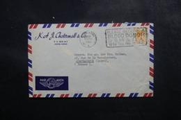 HONG KONG - Enveloppe Commerciale Pour La France En 1953, Affranchissement Et Oblitération Plaisants- L 47695 - Hong Kong (...-1997)