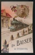 UN BAISER DE DUISBOURG  - BELGISCHE BEZETTING DUITSLAND 1922 - Guerre 1914-18