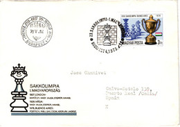 Chess Schach Echecs Ajedrez - Budapest. Hungary 1979_23th Chess Olympiad_FDC_CKM 7851 - Schach
