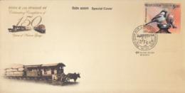 India  2012  Trains  Narrow Guage Train  &  Bullock Driven Train  Mumbai  Special Cover  #  23683  D Indien Inde India - Trains