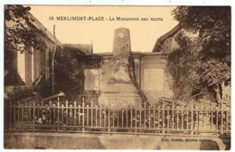 Merlimont-Plage / Le Monument Aux Morts / Ed. Guébin - Francia