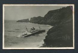 """25.5.1931 CIE NAVIGATION MIXTE """"EL GOLEA"""" WRECKED CAPE FREU MAJORCA -- PHOTO POSTCARD - Steamers"""