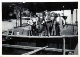Photo Originale Batelier & Péniche - Bienvenus à Bord En Cale Vide Vers 1930/40 - Boats