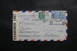 ETATS UNIS - Enveloppe Commerciale De New York Pour Châteauroux En 1942 Avec Contrôle Postal - L 47698 - Marcophilie