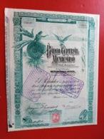 BANCO CENTRAL MEXICANO 1908 - Bank En Verzekering