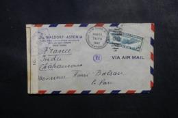 ETATS UNIS - Enveloppe Commerciale De New York Pour Châteauroux En 1942 Avec Contrôle Postal - L 47699 - Marcophilie