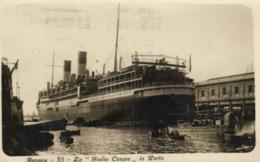 """Transport - Bateau - Paquebot - 55 - La """"Giulio Cesare """" - Genova - D 0810 - Passagiersschepen"""
