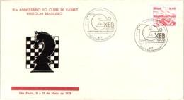 Chess Schach Echecs Ajedrez -Sao Paulo. Brazil 1979_10th Anniversary Of The Brazilian CXEB_Souvenir Cover_CKM 7923 - Schach